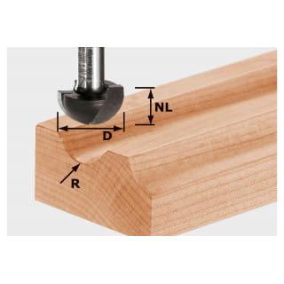 Фреза для выборки желобка HW с хвостовиком 12 мм FESTOOL HW S12 D40/25/R20