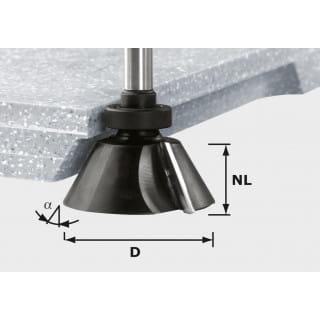 Фреза для профилирования фасок HW с хвостовиком 12 мм FESTOOL HW D66,5/30° ss S12