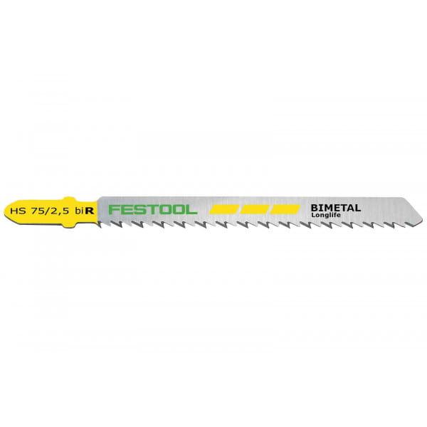 Полотно пильное для лобзика FESTOOL HS  75/2,5 BI R/5