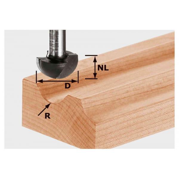 Фреза для выборки желобка HW с хвостовиком 12 мм FESTOOL HW S12 D30/20/R15