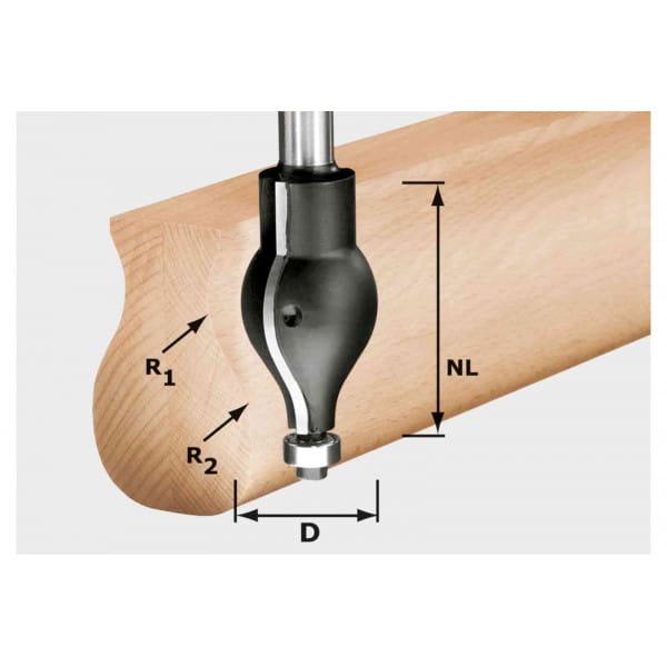 Профильная фреза HW, хвостовик 12 мм FESTOOL HW R20.5/16/D32/57 S12
