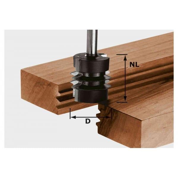 Фреза для сращивания HW с хвостовиком 8 мм FESTOOL HW S8 D34/NL32