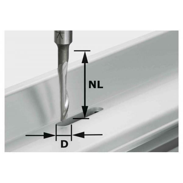 Фреза для обработки сплавов из алюминия HS с хвостовиком 8 мм FESTOOL HS S8 D5/NL23