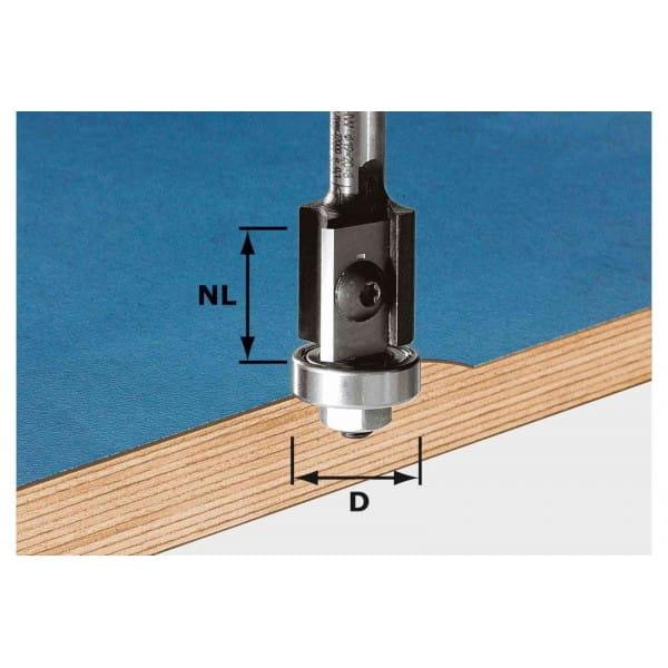 Фреза для обработки кромок со сменными ножами HW с хвостовиком 8 мм FESTOOL HW S8 D19/20WM Z2