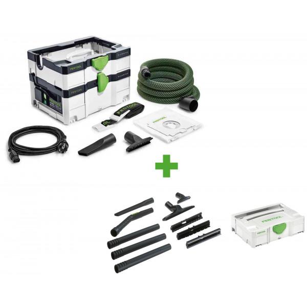 Пылеудаляющий аппарат CLEANTEC FESTOOL CTL SYS CAMP-Set + набор для уборки D 27/D 36 K-RS-Plus в подарок!