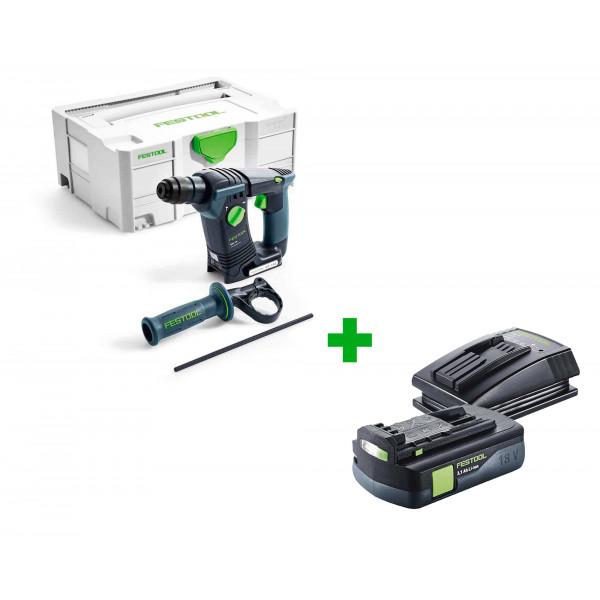 Перфоратор аккумуляторный FESTOOL BHC 18 Li-Basic + аккумулятор BP 18 Li 3,1 C и зарядное устройство TCL 3 в подарок!