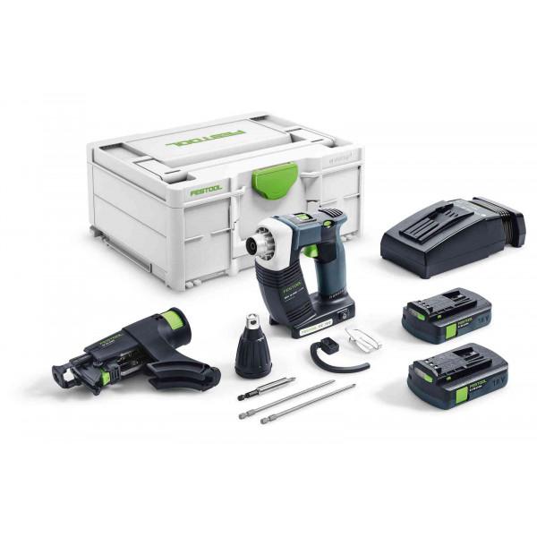 Шуруповерт аккумуляторный для гипсокартона DURADRIVE FESTOOL DWC 18-2500 C 3,1-Plus