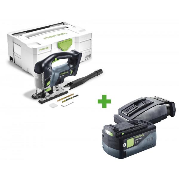 Лобзик маятниковый аккумуляторный CARVEX FESTOOL PSBC 420 Li EB-Basic + аккумулятор BP 18 Li 5,2 ASI + зарядное устройство TCL 6 в подарок!