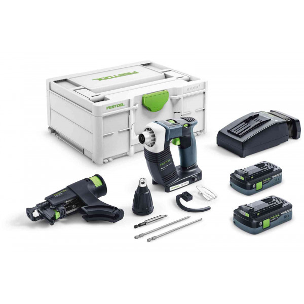 Шуруповерт аккумуляторный для гипсокартона DURADRIVE FESTOOL DWC 18-2500 HPC 4,0 I-Plus