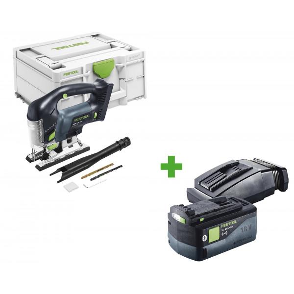 Лобзик маятниковый аккумуляторный CARVEX FESTOOL PSBC 420 EB-Basic + аккумулятор BP 18 Li 5,2 ASI + зарядное устройство TCL 6 в подарок!