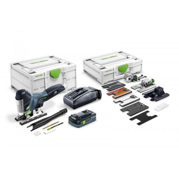 Лобзик маятниковый аккумуляторный CARVEX FESTOOL PSC 420 HPC 4,0 EBI-Set