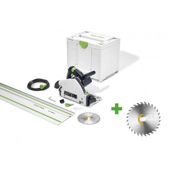Пила погружная электрическая FESTOOL TS 55 FEBQ-Plus-FS + диск пильный WOOD UNIVERSAL HW 160x1,8x20 W28 в подарок!