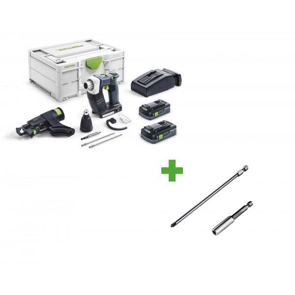 Шуруповерт аккумуляторный для гипсокартона DURADRIVE FESTOOL DWC 18-4500 HPC 4,0 I-Plus + держатель бит BH-DWC + бит PH2-AF-55 3x в подарок!
