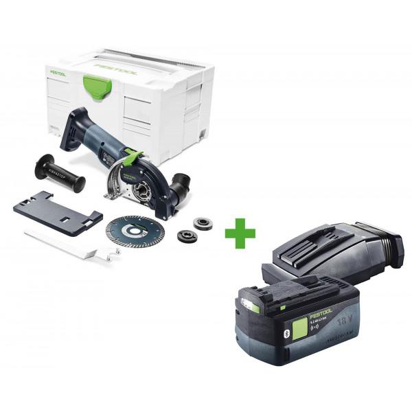 Система отрезная алмазная аккумуляторная FESTOOL DSC-AGC 18-125 FH Li EB-Basic + аккумулятор BP 18 Li 5,2 ASI и зарядное устройство TCL 6 в подарок!
