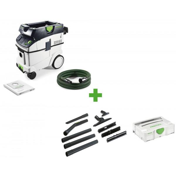 Пылеудаляющий аппарат CLEANTEC FESTOOL CTL 36 E CAMP-Set + набор для уборки D 27/D 36 K-RS-Plus в подарок!