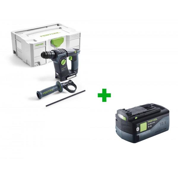 Перфоратор аккумуляторный FESTOOL BHC 18 Li-Basic + аккумулятор FESTOOL BP 18 Li 5,2 ASI в подарок!