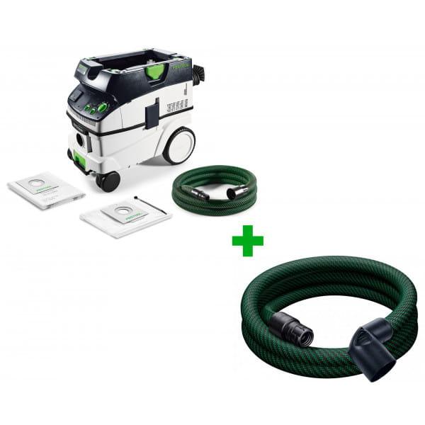 Пылеудаляющий аппарат CLEANTEC FESTOOL CTL 26 E AC + шланг D27/32x3,5m-AS-90°/CT в подарок!