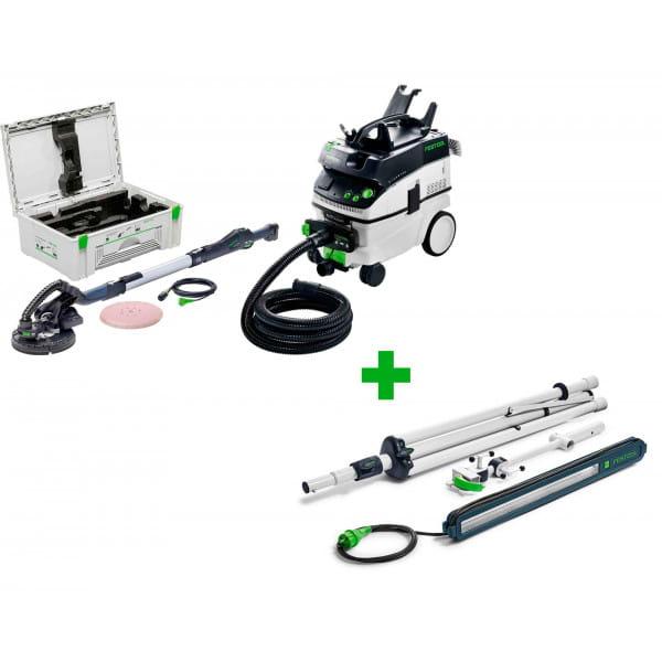 Машинка шлифовальная для стен и потолков FESTOOL PLANEX LHS 225-SW/CTL36-Set + лампа контрольная SYSLITE STL 450-Set в подарок!