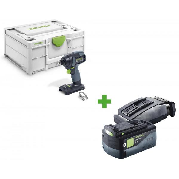 Дрель-шуруповерт импульсная аккумуляторная FESTOOL TID 18-Basic + аккумулятор BP 18 Li 5,2 ASI + зарядное устройство TCL 6 в подарок!