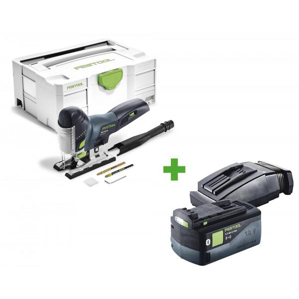 Лобзик маятниковый аккумуляторный CARVEX FESTOOL PSC 420 Li EB-Basic + аккумулятор BP 18 Li 5,2 ASI + зарядное устройство TCL 6 в подарок!