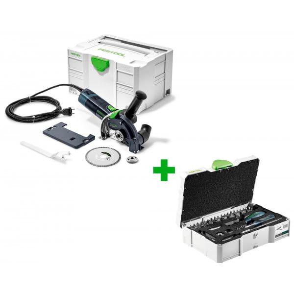 Система отрезная алмазная FESTOOL DSC-AG 125 FH-Plus + набор CENTROTEC 1/4-CE RA-Set 36 в подарок!