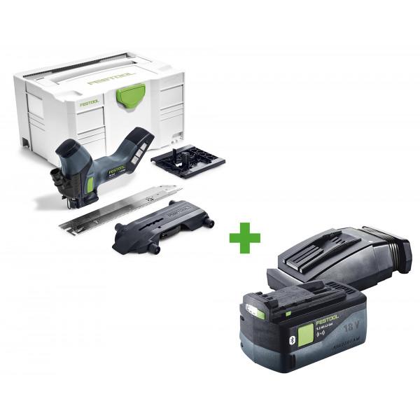Резак для раскроя изоляционных материалов аккумуляторный FESTOOL ISC 240 Li EB-Basic + аккумулятор BP 18 Li 5,2 ASI + зарядное устройство TCL 6 в подарок!