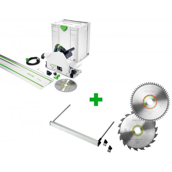 Пила погружная электрическая FESTOOL TS 75 EBQ-Plus-FS + упор PA-TS 75 + диск 210x2,6x30 W18 + диск 210x2,4x30 TF60 в подарок!
