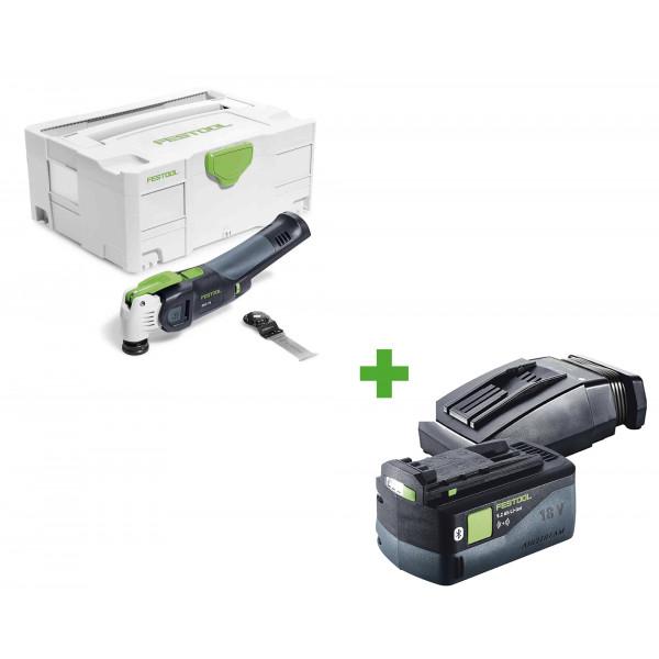 Инструмент многофункциональный FESTOOL VECTURO OSC 18 Li E-Basic + аккумулятор BP 18 Li 5,2 ASI + зарядное устройство TCL 6 в подарок!