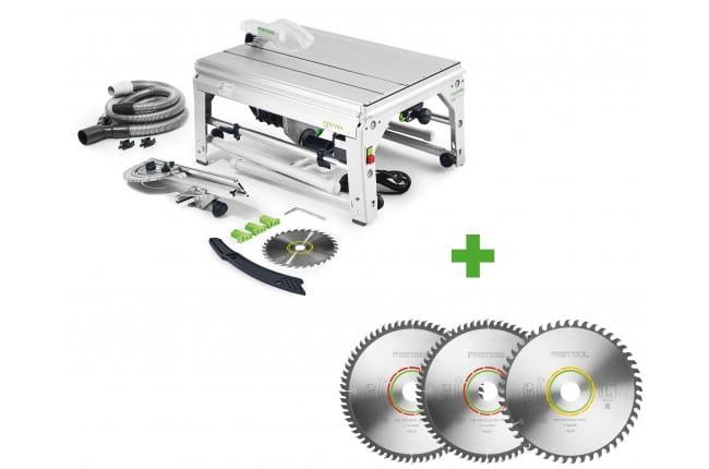 Пила дисковая монтажная PRECISIO FESTOOL CS 70 EBG + диск 225x2,6x30 W48 и два диска 225x2,6x30 TF64 в подарок!