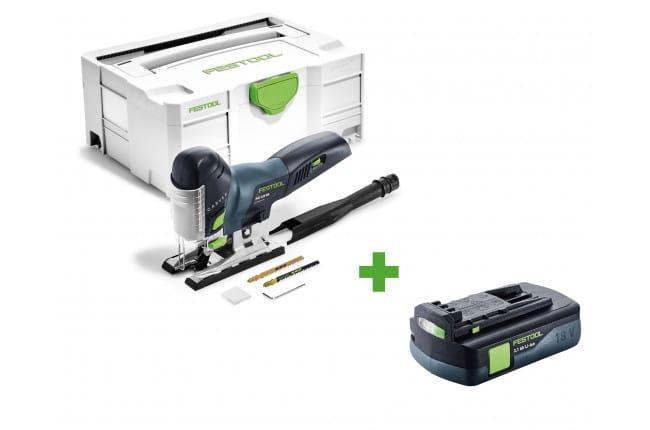 Лобзик маятниковый аккумуляторный CARVEX FESTOOL PSC 420 Li EB-Basic + аккумулятор BP 18 Li 3,1 C в подарок!