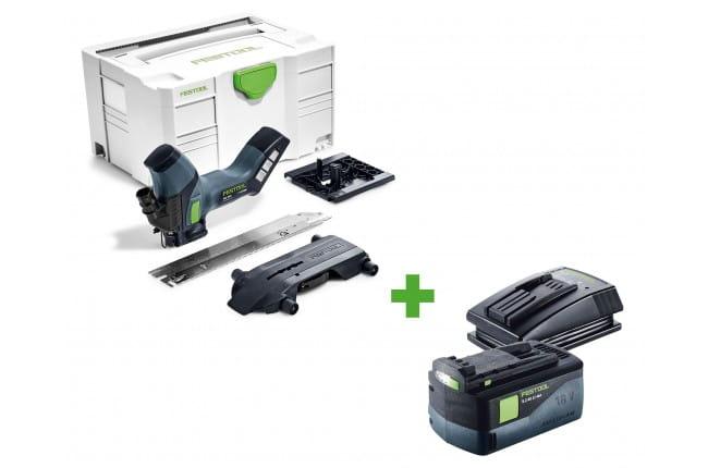 Резак для раскроя изоляционных материалов аккумуляторный FESTOOL ISC 240 Li EB-Basic + аккумулятор BP 18 Li 5,2 AS и зарядное устройство TCL 3 в подарок!