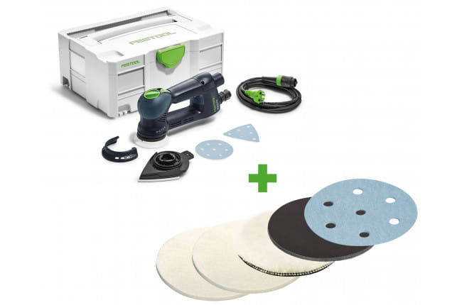 Машинка шлифовальная эксцентриковая электрическая ROTEX FESTOOL RO 90 DX FEQ-Plus + набор материалов в подарок!