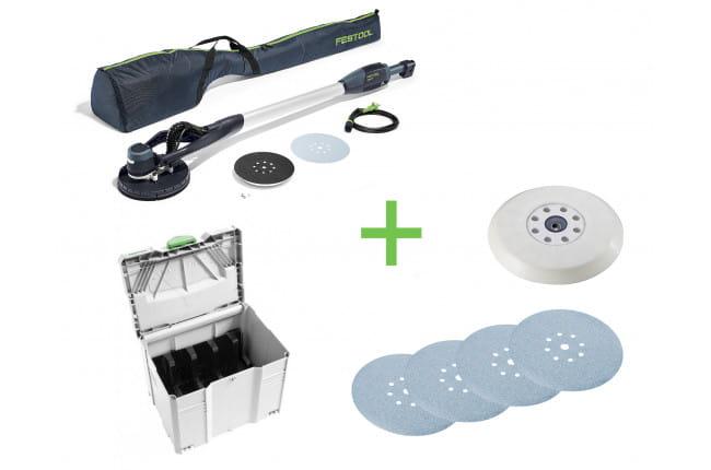 Машинка шлифовальная для стен и потолков FESTOOL PLANEX LHS-E 225 EQ + комплект расходных материалов PLANEX Easy CAMP-Set в подарок!