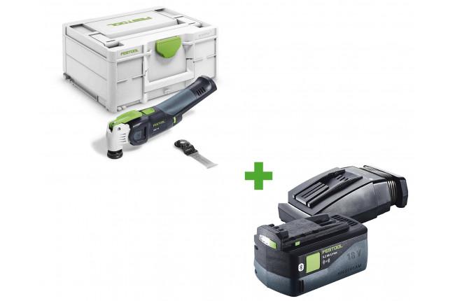 Инструмент многофункциональный FESTOOL VECTURO OSC 18 E-Basic + аккумулятор BP 18 Li 5,2 ASI + зарядное устройство TCL 6 в подарок!